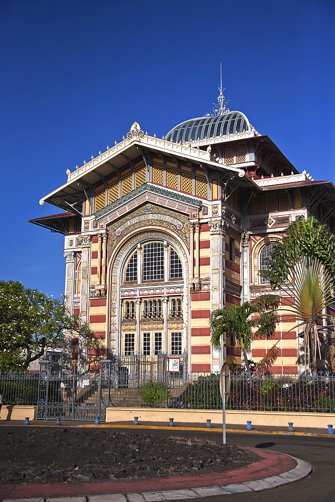 Martinique, Fort-de-France, Bibliotheque Schoelcher exterior.