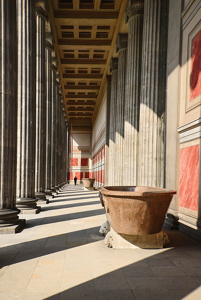 Germany, Berlin, Altes Museum, Old Museum, Entrance portico.