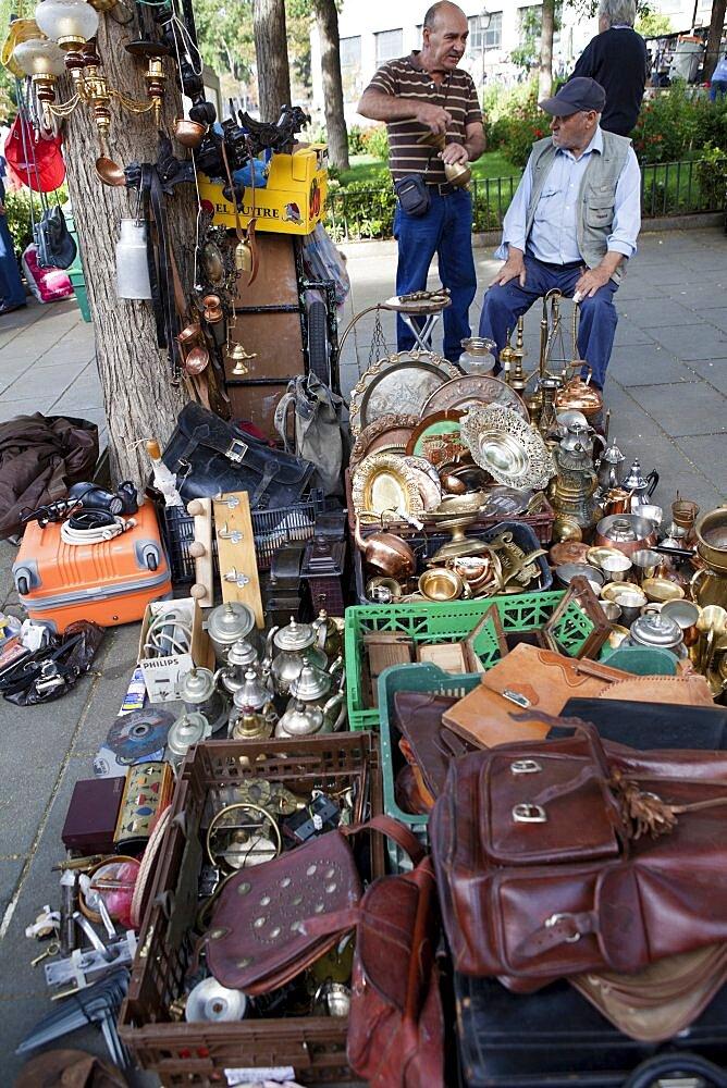 Spain, Madrid, El Rastro Flea market.