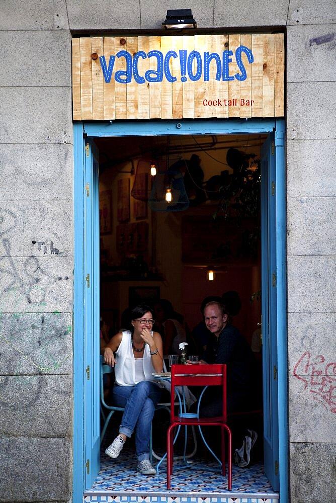 Spain, Madrid, Vacaciones Cocktail Bar.