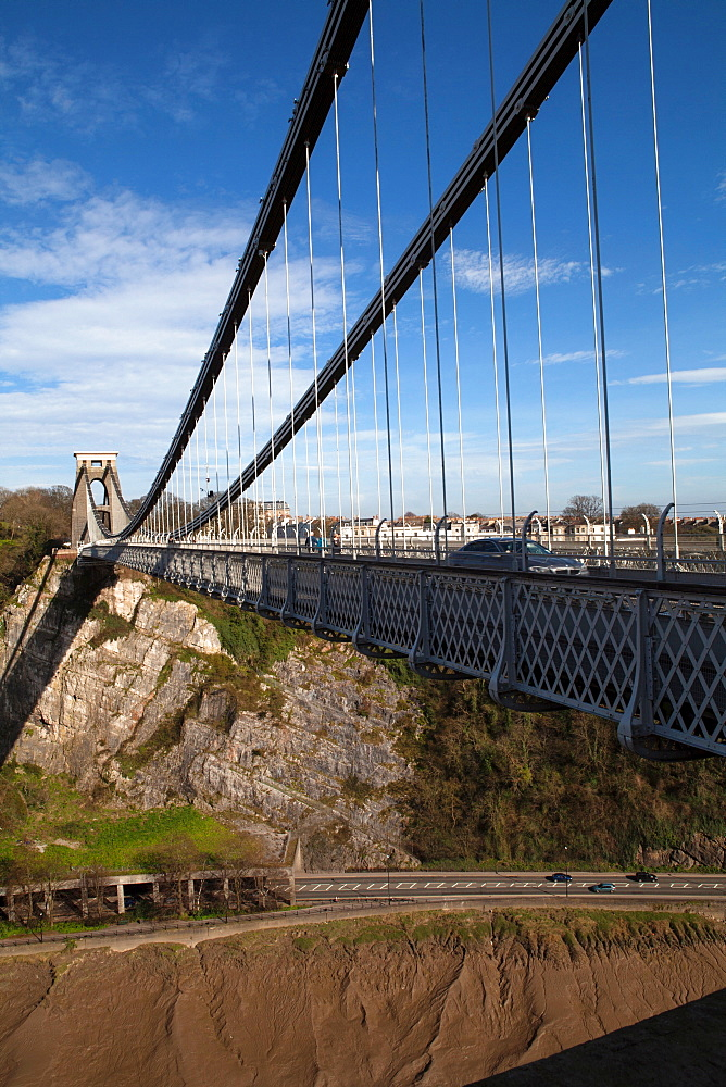 England, Bristol, Clifton Suspension Bridge.