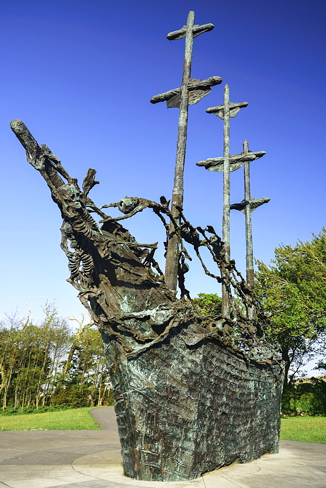 Ireland, County Mayo, Murrisk, The National Famine Memorial.