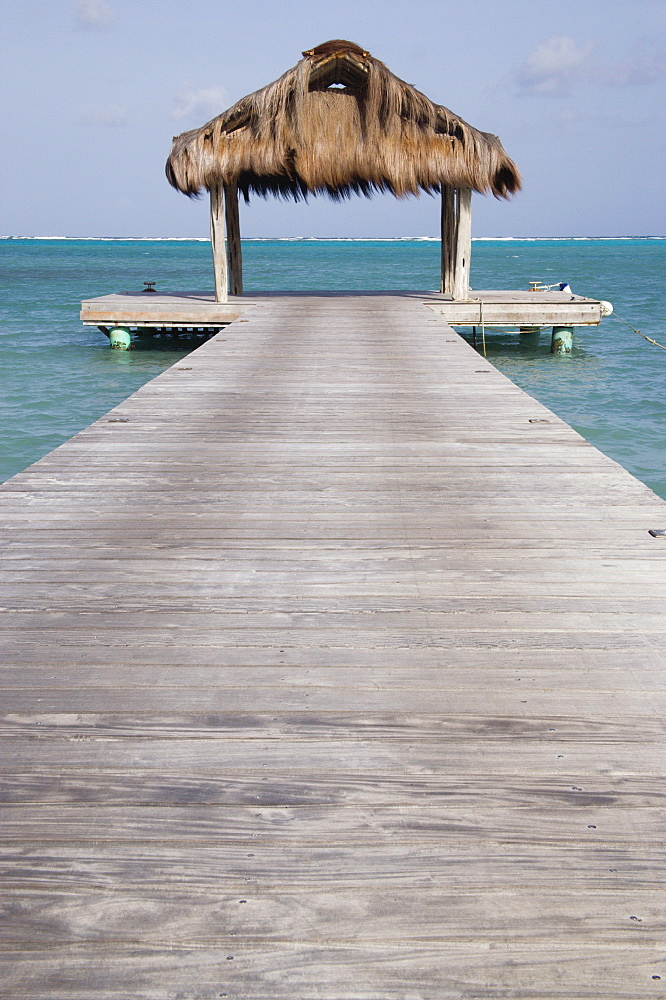 WEST INDIES St Vincent & The Grenadines Canouan The jetty on Jambu Beach at Raffles Resort