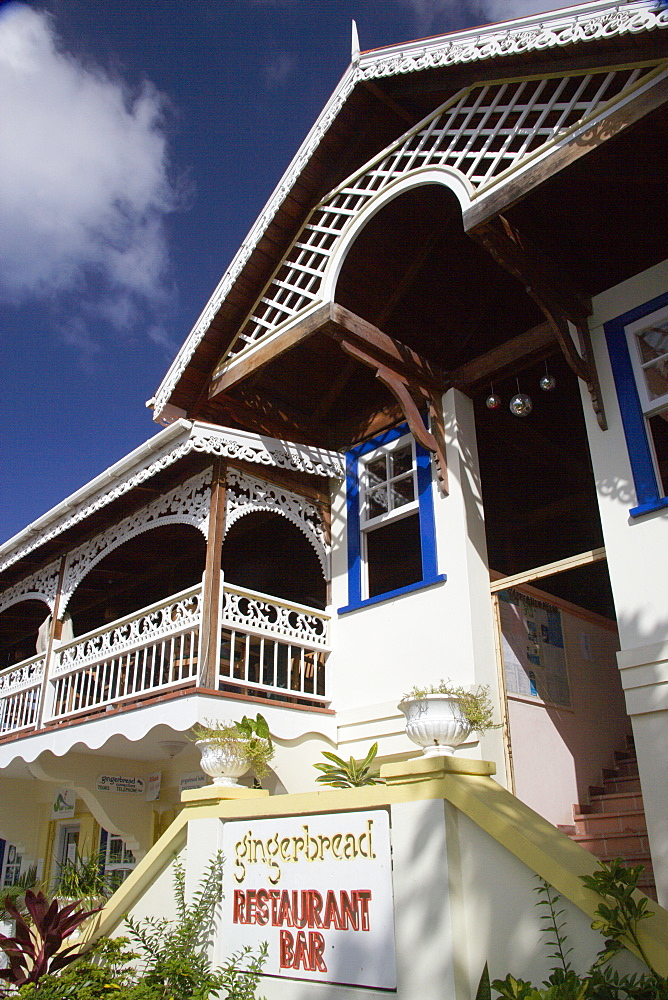 WEST INDIES St Vincent & The Grenadines Bequia The Gingerbread restaurant and bar in Port Elizabeth