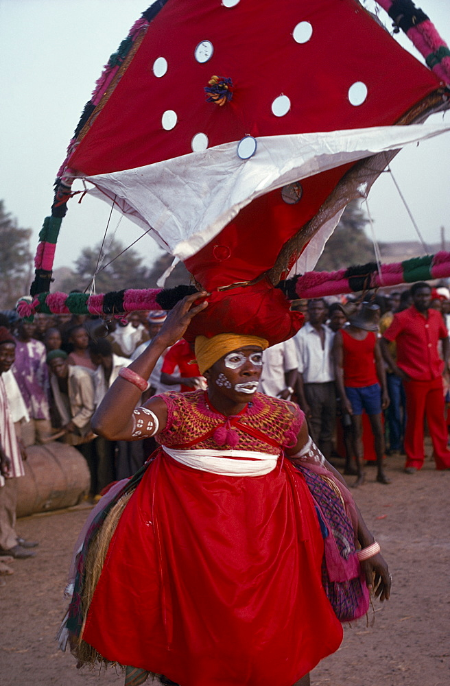 SIERRA LEONE People Soko Dancer at Soko secret society initiation.