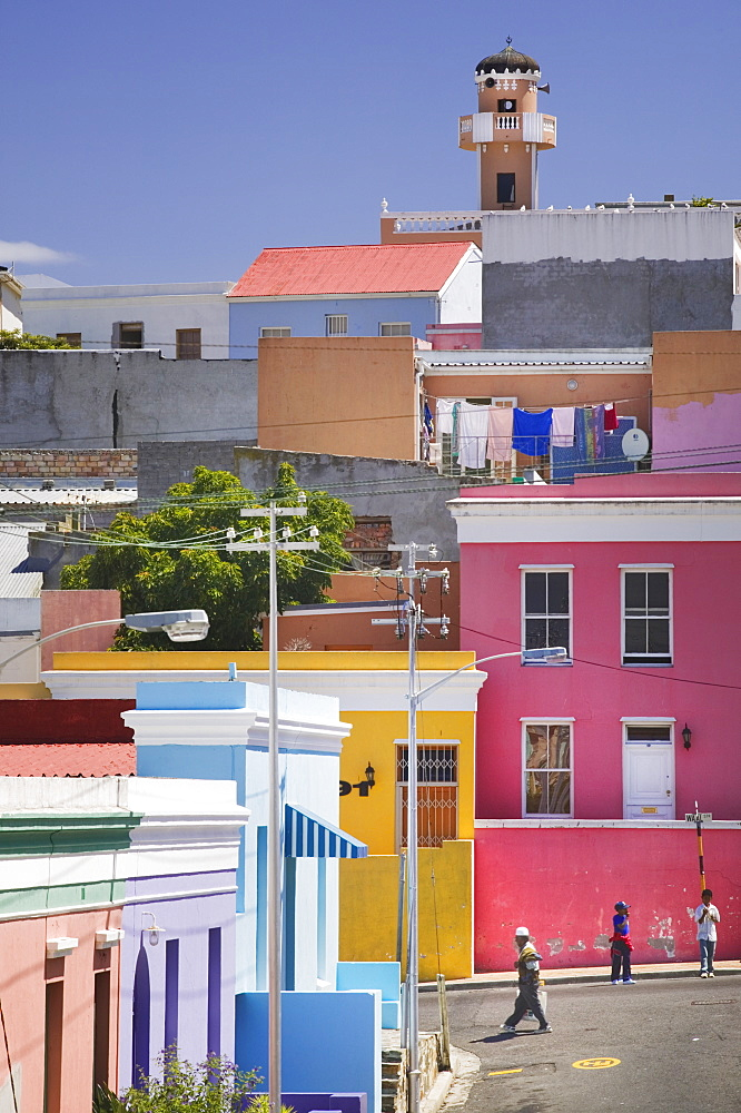 SOUTH AFRICA Western Cape Cape Town Colouful houses in Bo-Kaap  the historic Cape Muslim Quarter. Islam Bo-Kaap Capetown architecture South Africa travel tourism African Islamic Moslem Religion Religious Muslims Islam Islamic  - 797-3831