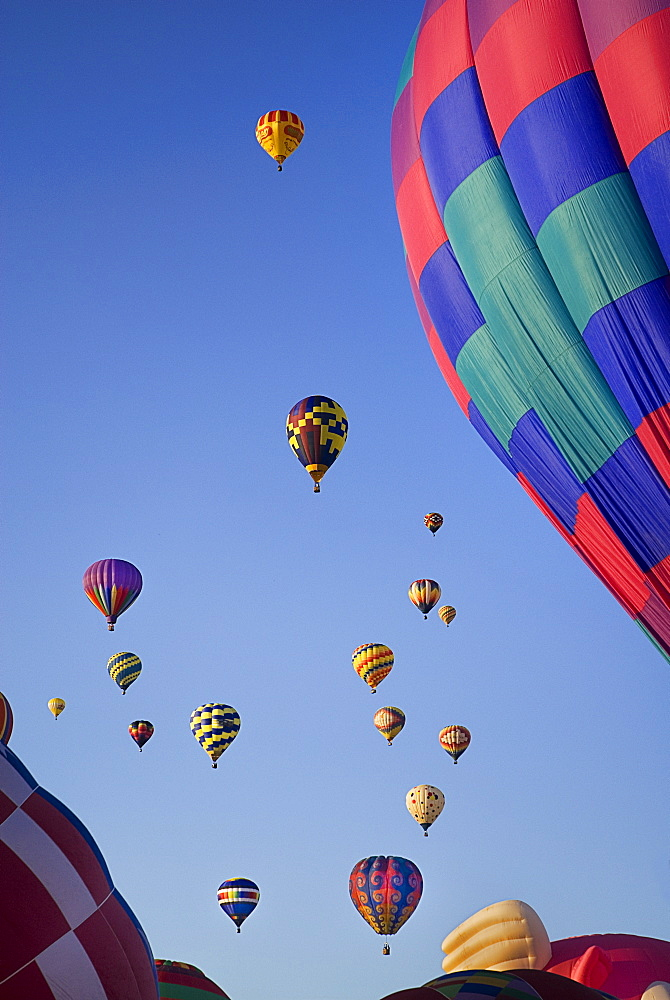 Annual balloon fiesta Colourful hot air balloons, Albuquerque, New Mexico, United States of America - 797-9146