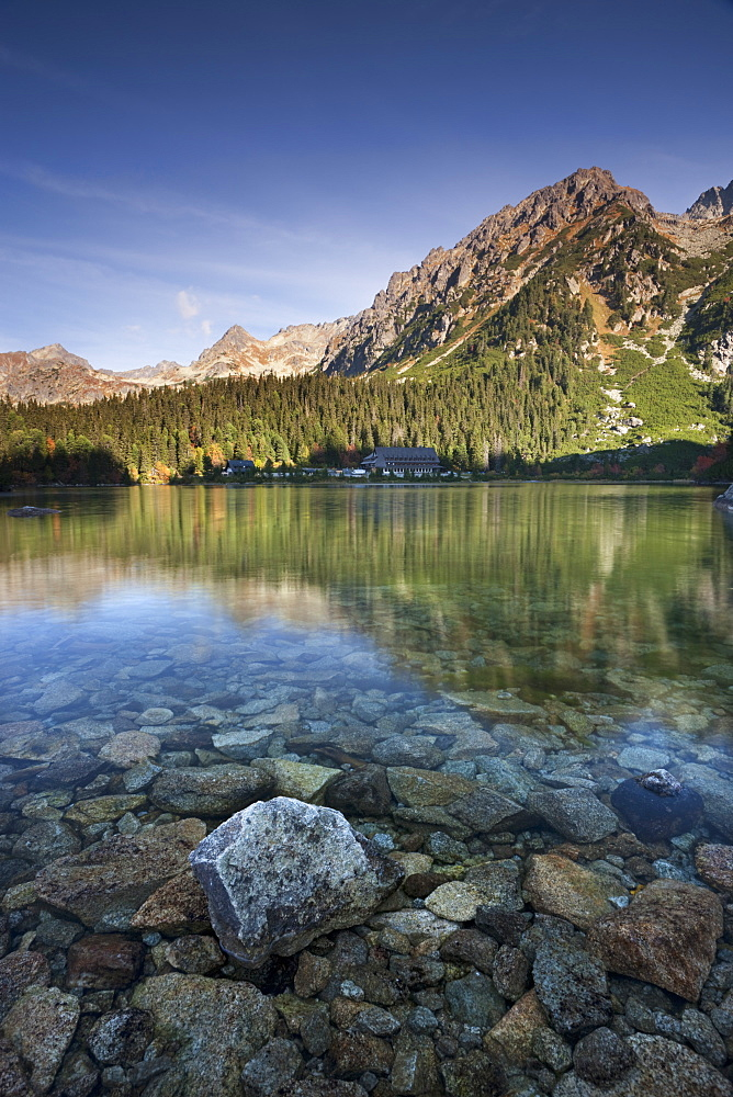 Popradske Pleso Lake in the High Tatra mountains, Slovakia, Europe