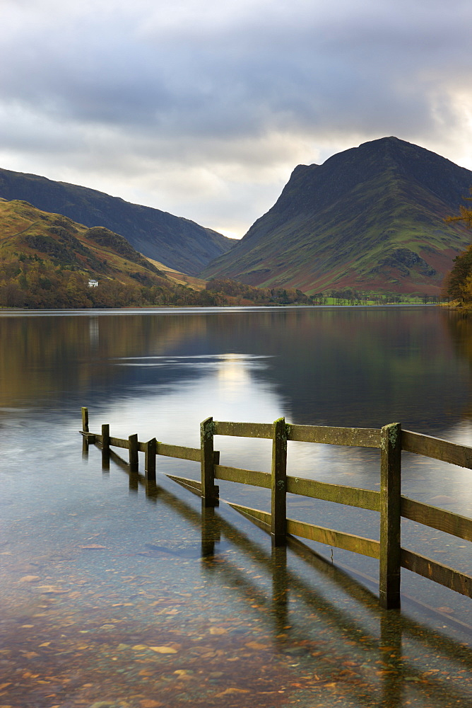 Lake Buttermere and Fleetwith Pike, Lake District National Park, Cumbria, England, United Kingdom, Europe