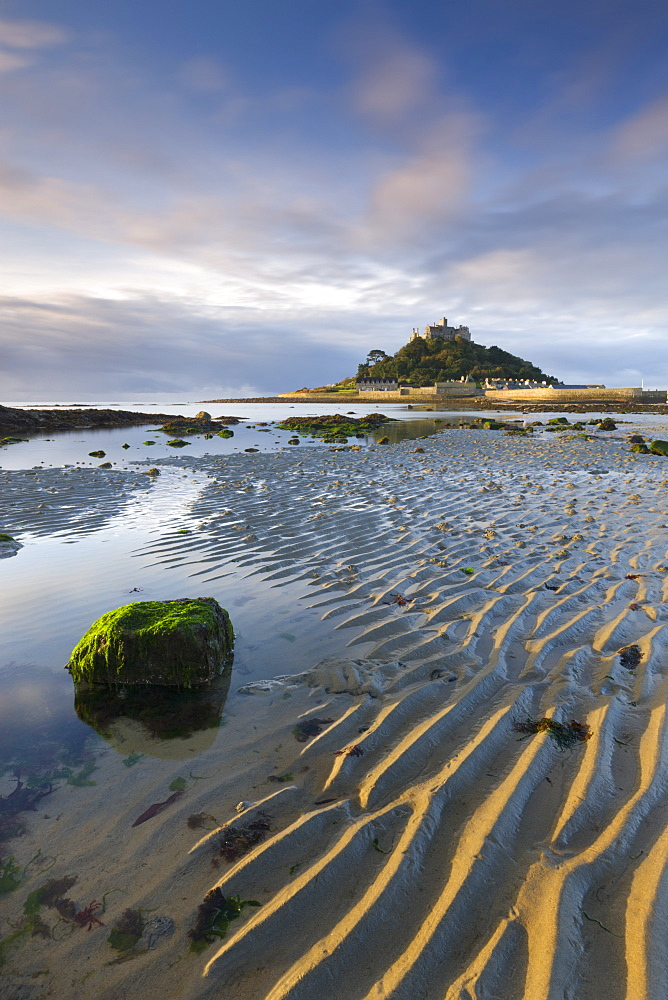 Low tide at St.Michaels Mount, Cornwall, England, United Kingdom, Europe
