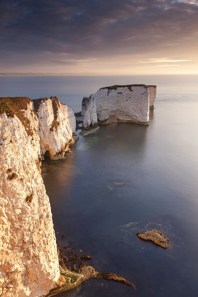 Old Harry Rocks on the Jurassic Coast, UNESCO World Heritage Site, Studland, Dorset, England, United Kingdom, Europe