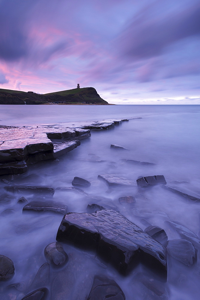 Kimmeridge Bay at dawn, Jurassic Coast, UNESCO World Heritage Site, Dorset, England, United Kingdom, Europe