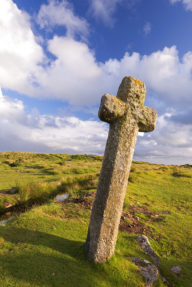 Beckamoor Cross, otherwise known as the windy Post, Dartmoor National Park, Devon, England, United Kingdom, Europe