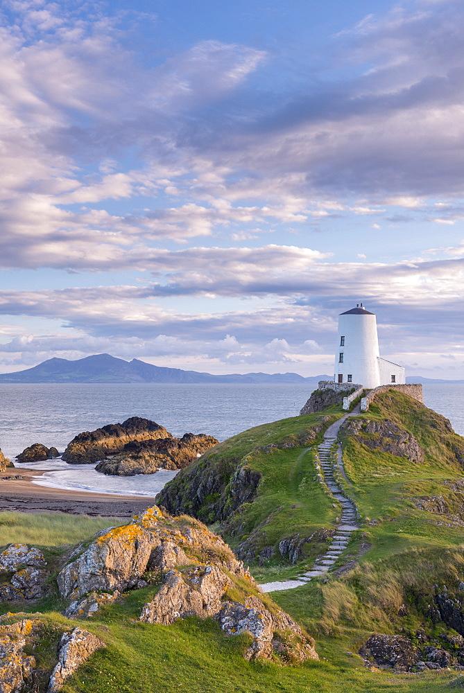 Twr Mawr lighthouse on Llanddwyn Island in Anglesey, North Wales, United Kingdom, Europe - 799-3509