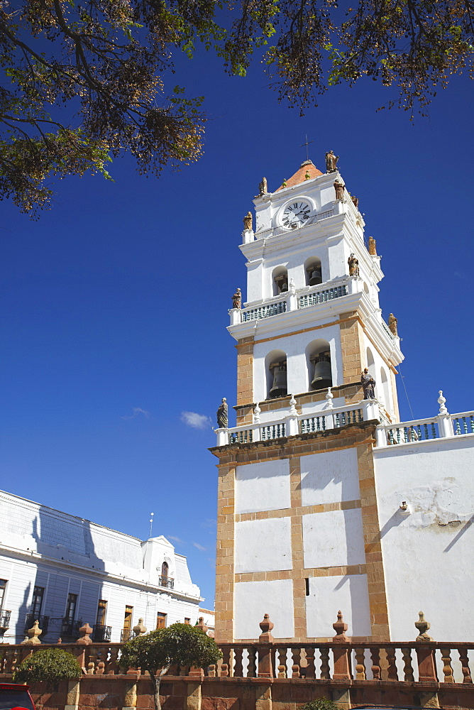 Cathedral in Plaza 25 de Mayo, Sucre, UNESCO World Heritage Site, Bolivia, South America