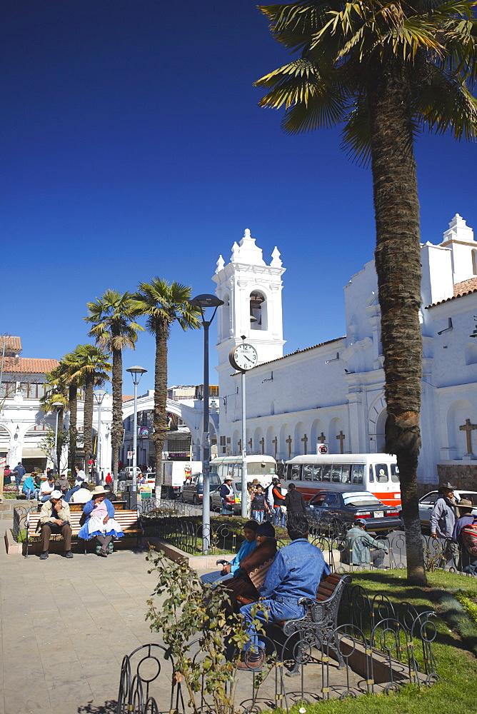Iglesia de San Francisco, Sucre, UNESCO World Heritage Site, Bolivia, South America
