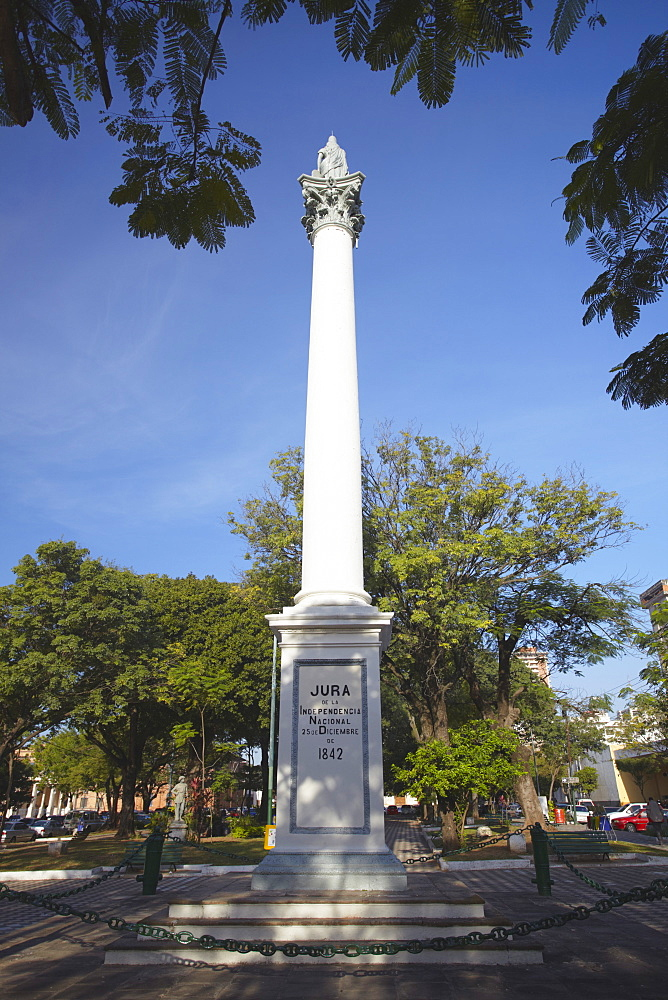 Monument in Plaza Constitution, Asuncion, Paraguay, South America