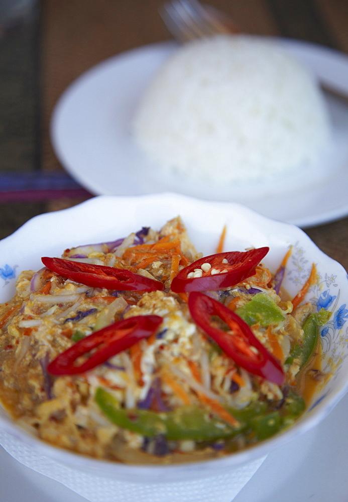 Amok saik moan (chicken amok), Kampong Cham, Cambodia, Indochina, Southeast Asia, Asia