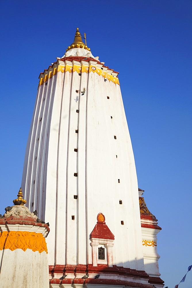 Temple at Swayambhunath Stupa, UNESCO World Heritage Site, Kathmandu, Nepal, Asia