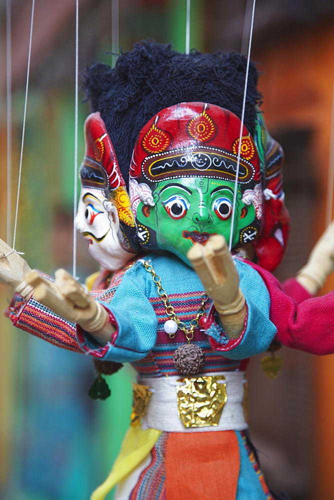 Traditional puppets, Patan, Kathmandu, Nepal, Asia