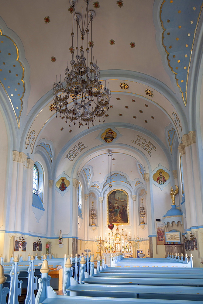 Interior of Church of St. Elizabeth (Blue Church), Bratislava, Slovakia, Europe