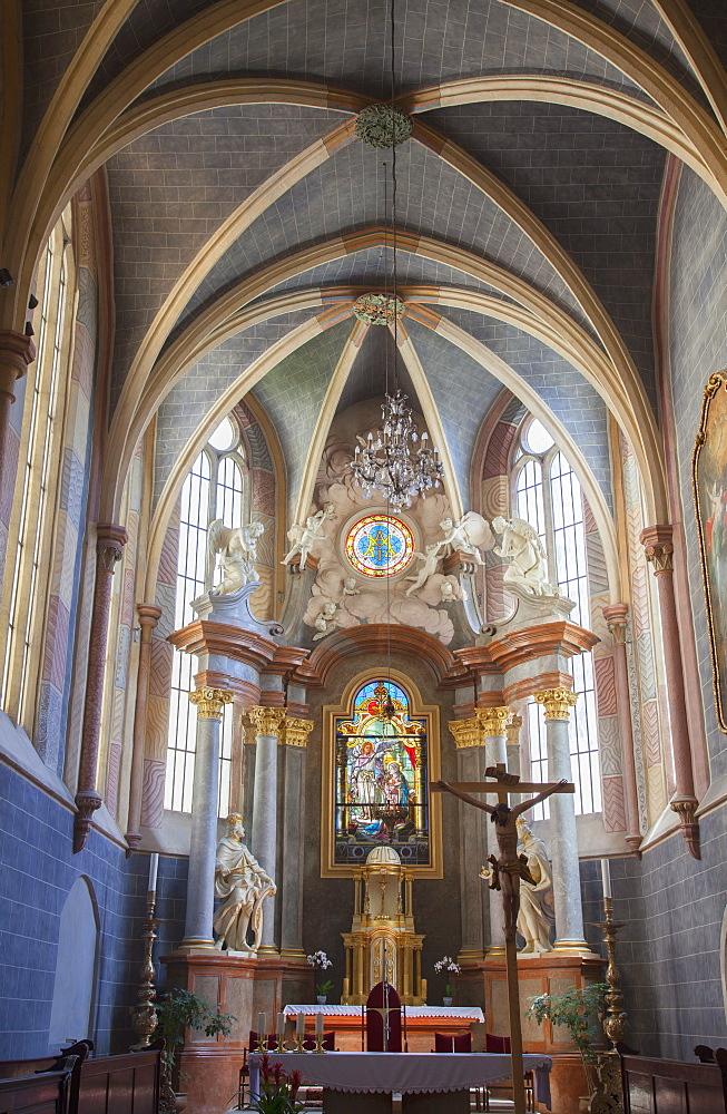 Interior of Franciscan Church, Bratislava, Slovakia, Europe