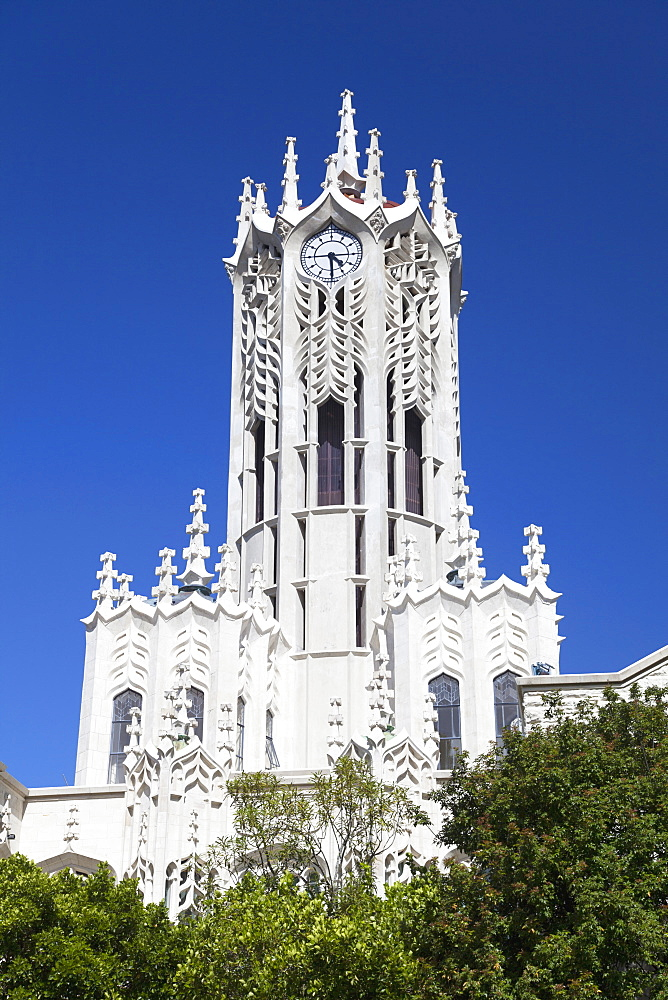 Clock tower of University of Auckland, Auckland, North Island, New Zealand, Pacific