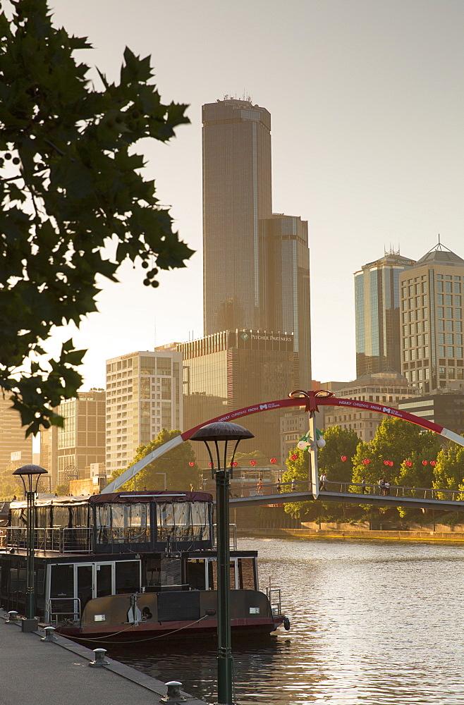 Rialto Towers along Yarra River, Melbourne, Victoria, Australia, Pacific