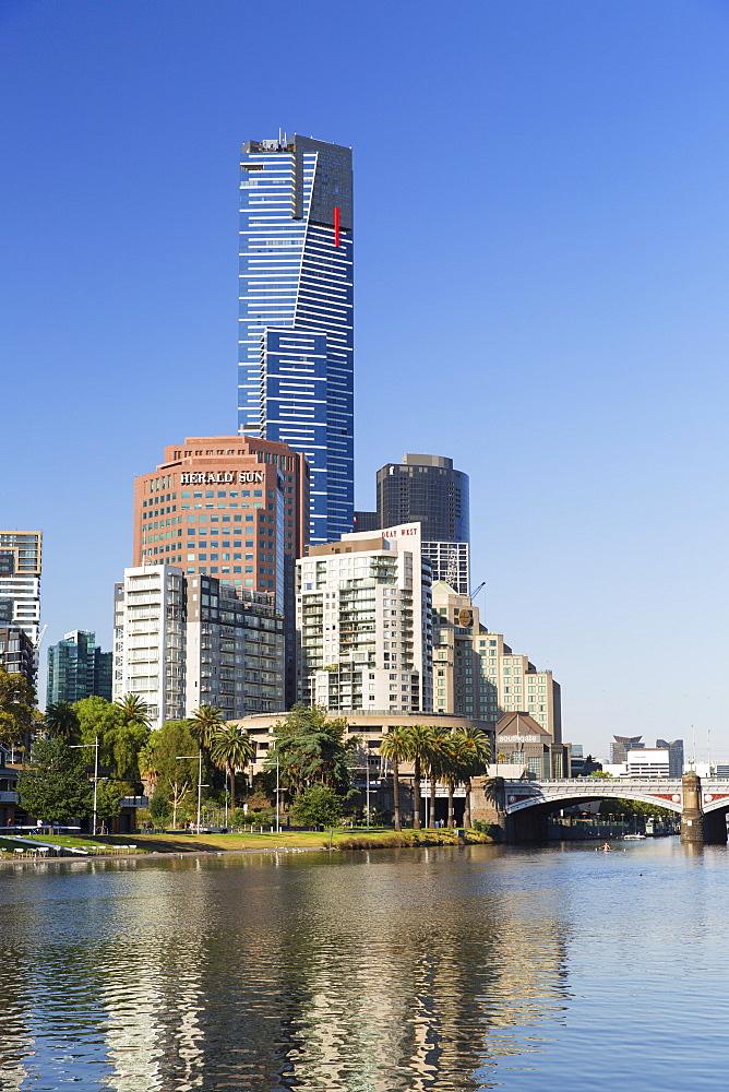 Eureka Tower and Yarra River, Melbourne, Victoria, Australia, Pacific