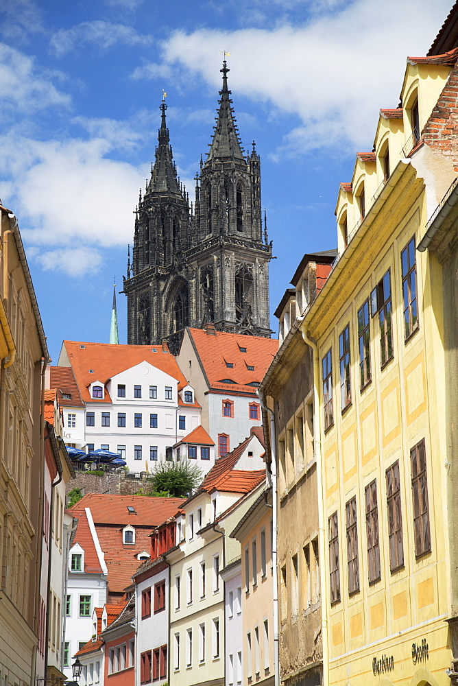 View of Cathedral, Meissen, Saxony, Germany, Europe