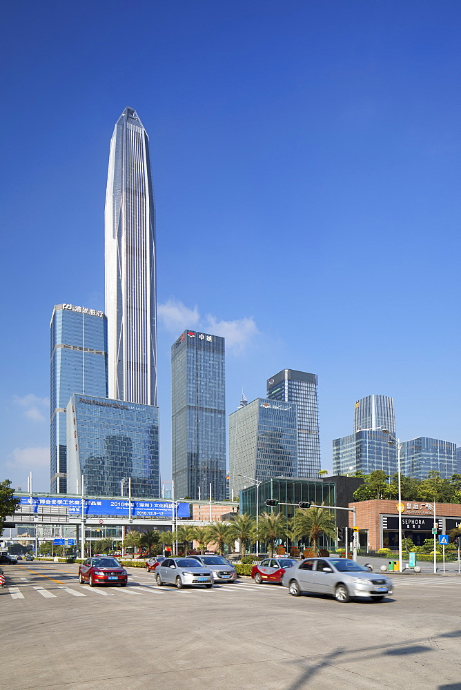Ping An International Finance Centre, world's fourth tallest building in 2017 at 600m, Futian, Shenzhen, Guangdong, China, Asia - 800-2992