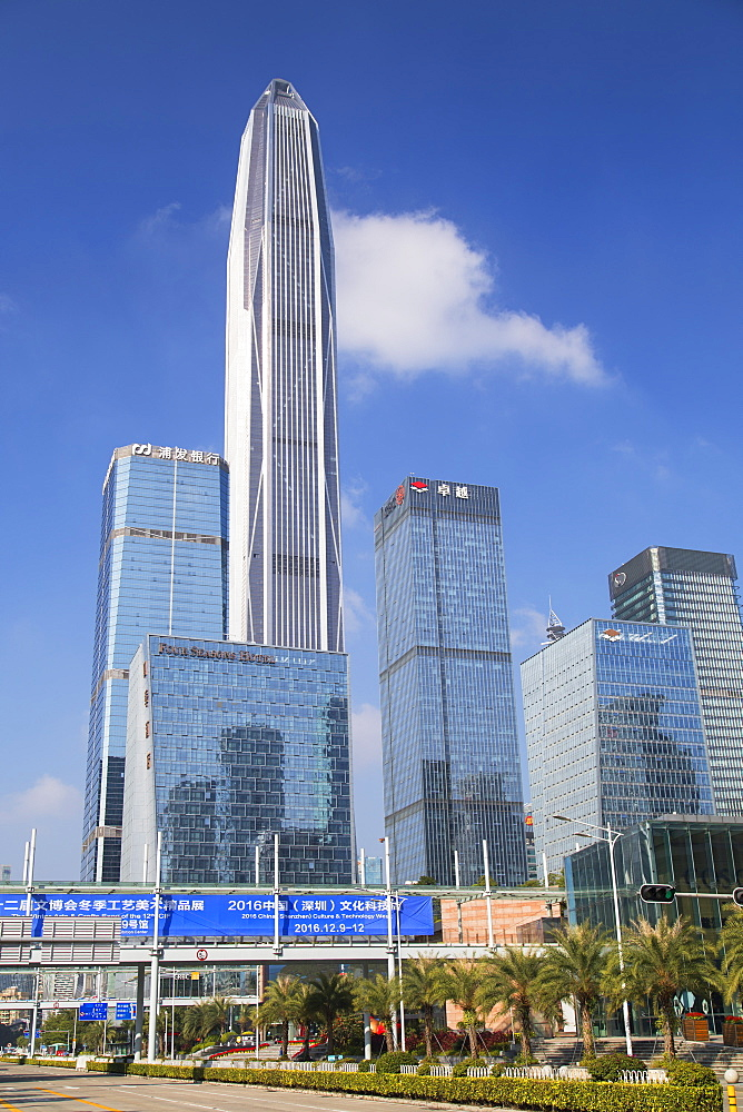 Ping An International Finance Centre, world's fourth tallest building in 2017 at 600m, Futian, Shenzhen, Guangdong, China, Asia - 800-2994