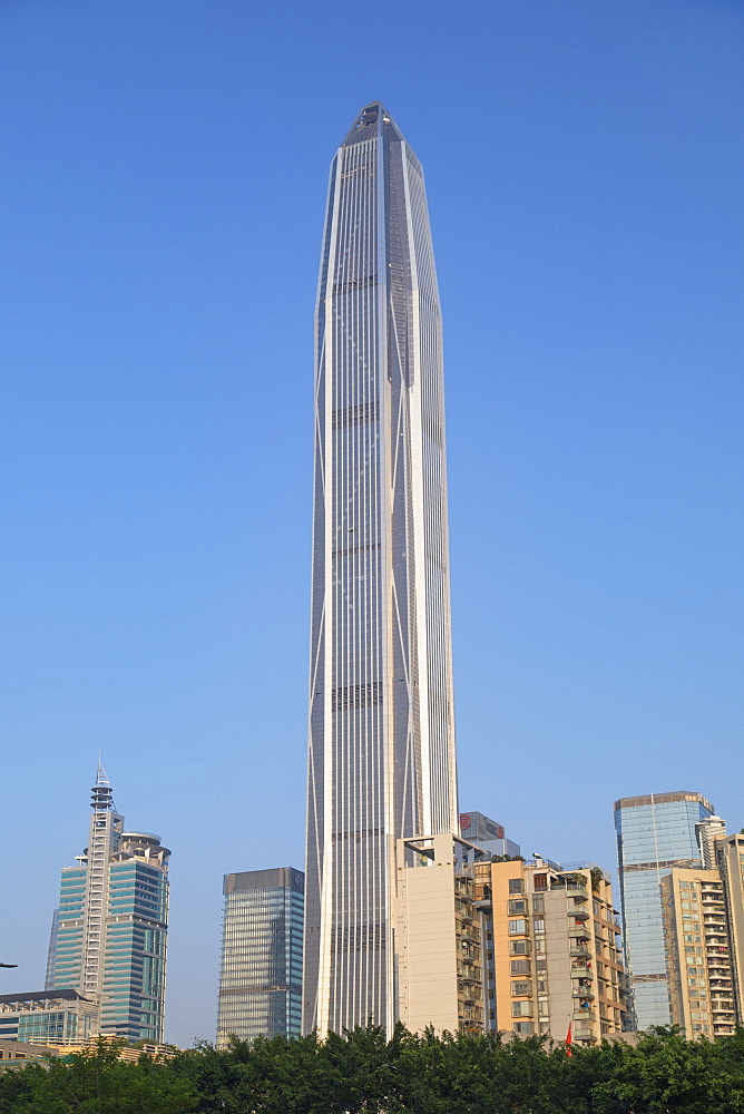 Ping An International Finance Centre, world's fourth tallest building in 2017 at 600m, Futian, Shenzhen, Guangdong, China, Asia - 800-3030