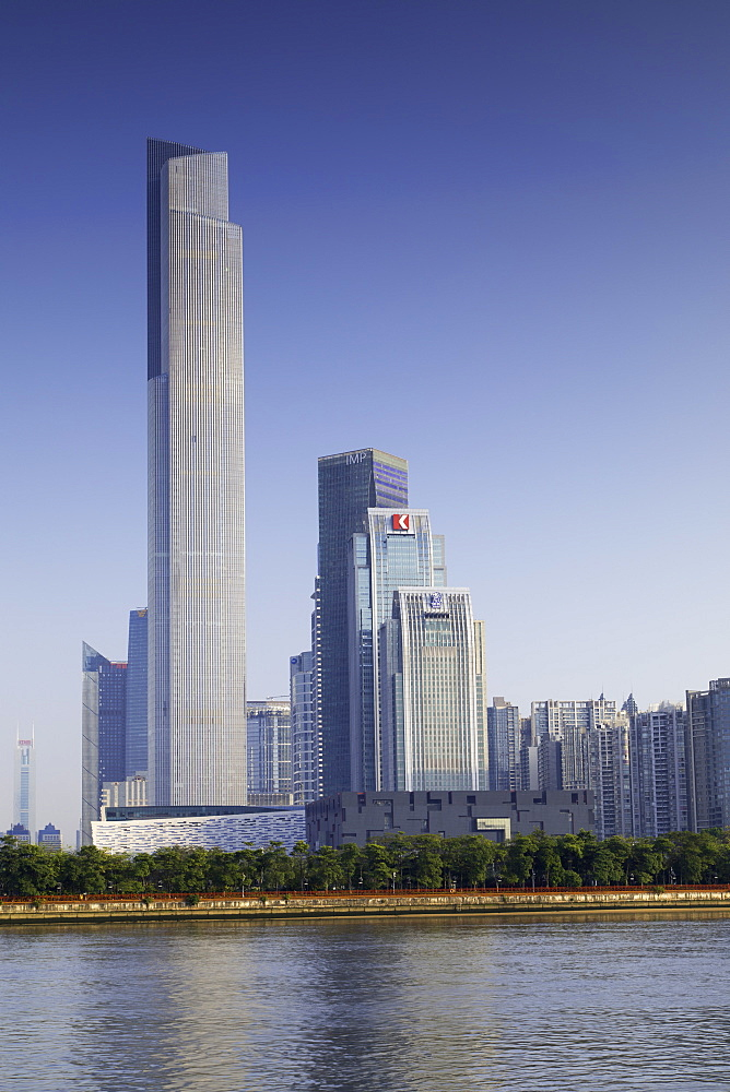CTF Finance Centre (world's 7th tallest building in 2017 at 530m), Tianhe, Guangzhou, Guangdong, China - 800-3031