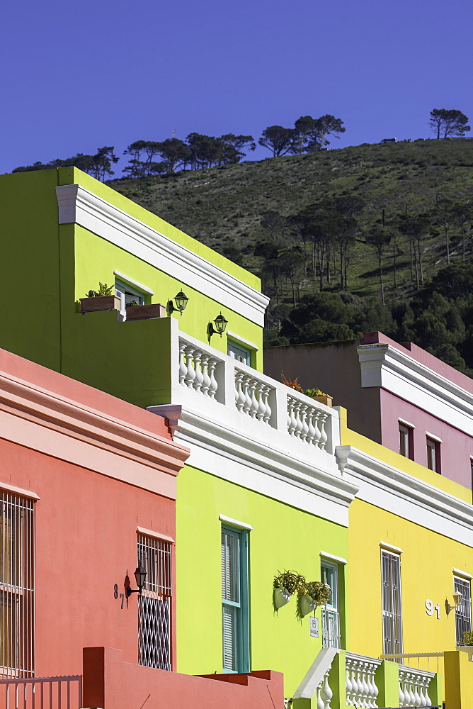 Colourful houses in Bo Kaap, Cape Town, Western Cape, South Africa
