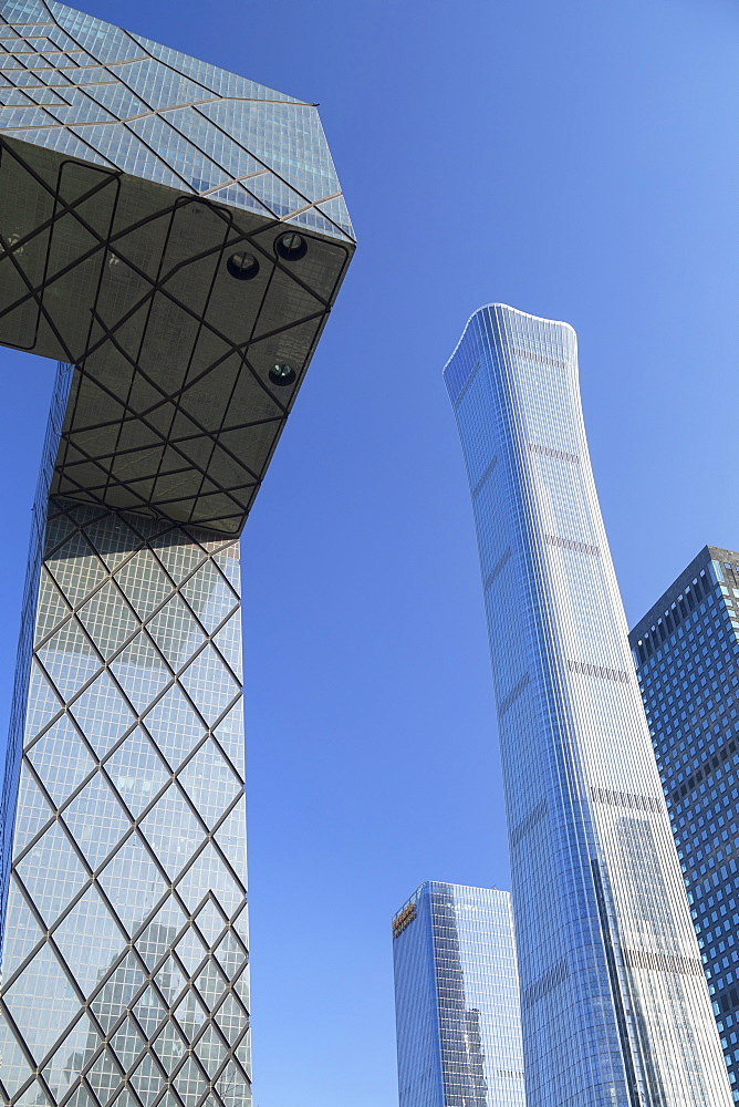 CITIC Tower, the tallest skyscraper in Beijing in 2020, and CCTV Headquarters, Beijing, China, Asia - 800-3916