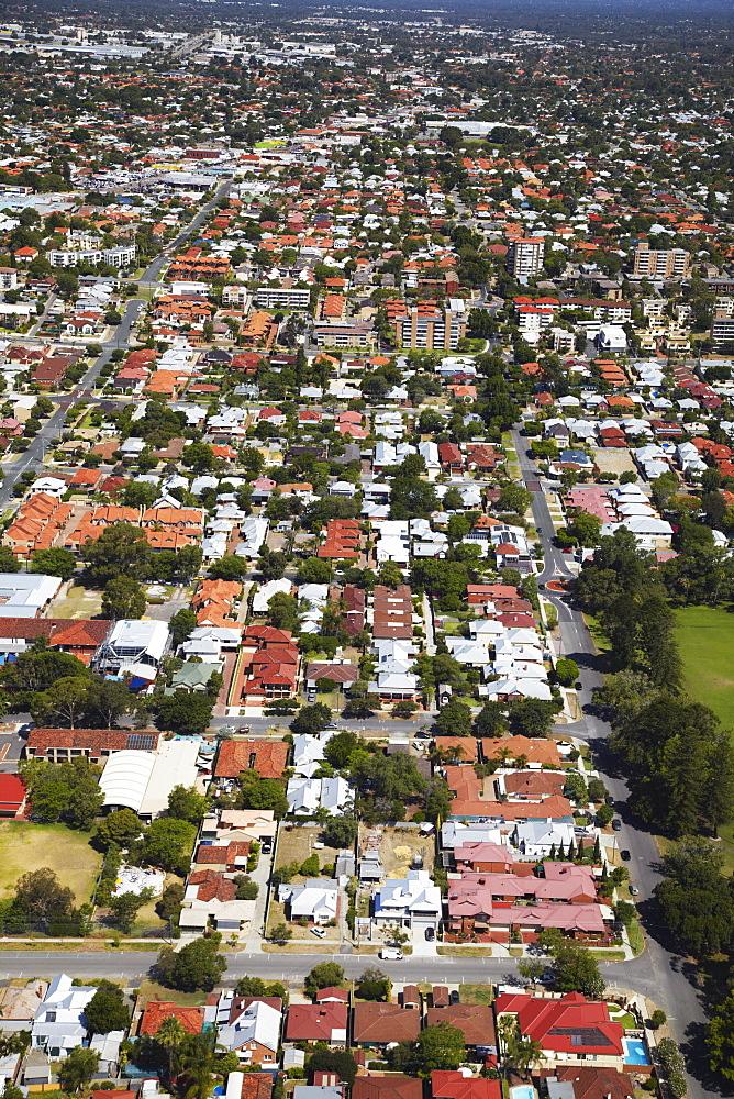 Aerial view of suburbs, Perth, Western Australia, Australia, Pacific