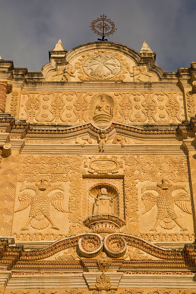 Baroque facade of the Temple of Santo Domingo de Guzman, founded in 1547, San Cristobal de las Casas, Chiapas, Mexico, North America