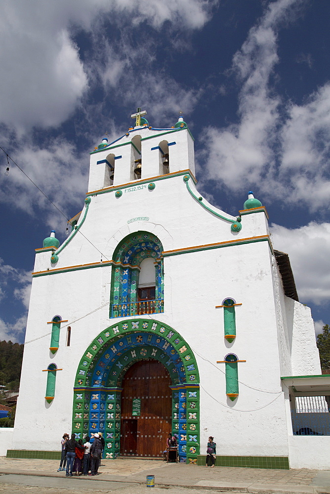 The Church of San Juan Bautista, founded in 1797, San Juan Chamula, Chiapas, Mexico, North America