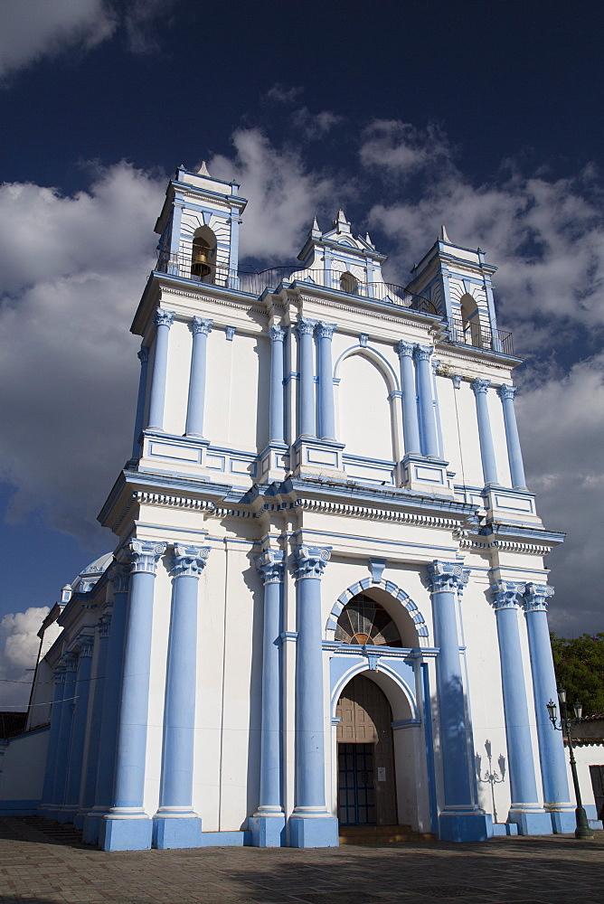 The 19th century architecture of the Temple of Santa Lucia, San Cristobal de las Casas, Chiapas, Mexico, North America