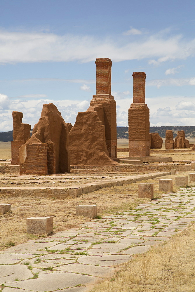 Remains of buildings at Fort Union National Monument, New Mexico, United States of America, North America