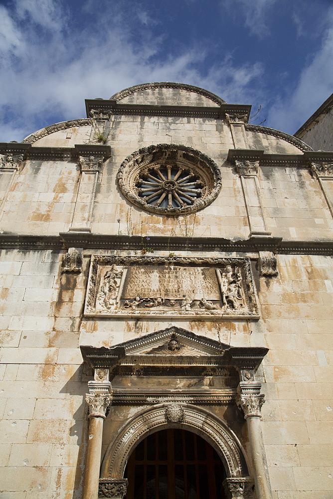 Front facade, St. Ignatius Church, Old Town, Dubrovnik, Croatia, Europe