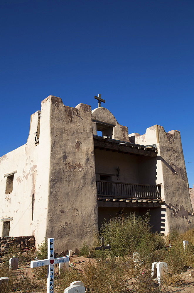 Our Lady of Guadalupe (Old Zuni) Mission, established in 1629, Zuni Pueblo, New Mexico, United States of America, North America