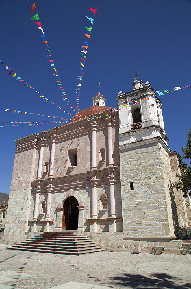 Church of San Pablo, Mitla Archaeological Site, San Pablo de Mitla, Oaxaca, Mexico, North America