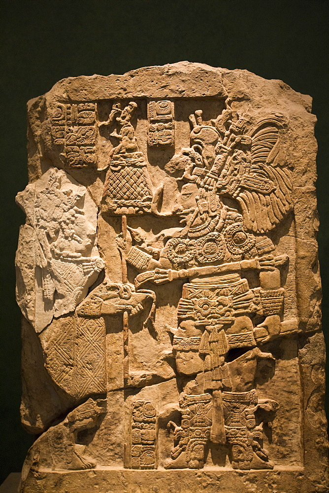Lintel 43 from Yaxchilan, National Museum of Anthropology, Mexico City, Mexico, North America