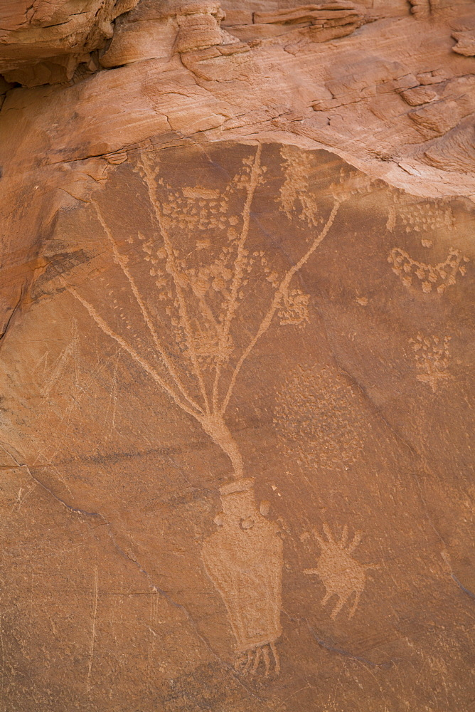 Cub Creek Petroglyphs, Fremont Style, from AD 700 to AD 1200, Dinosaur National Monument, Utah, United States of America, North America