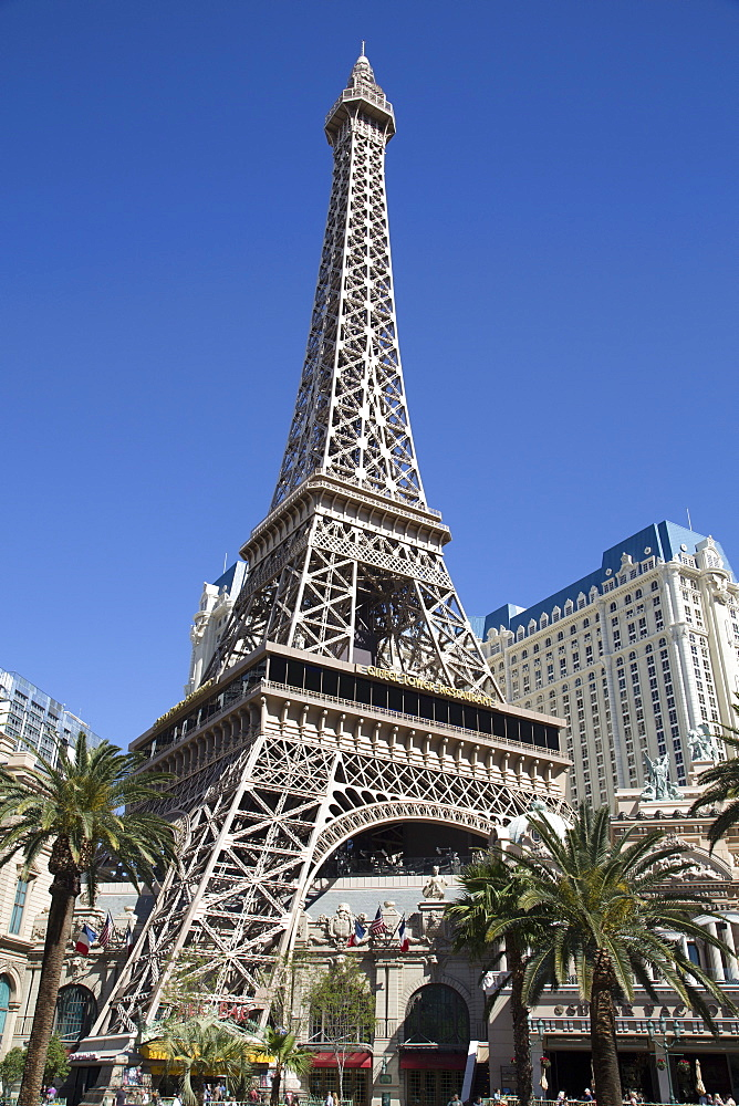 Reproduction of the Eiffel Tower, Paris Las Vegas Hotel and Casino, Las Vegas, Nevada, United States of America, North America