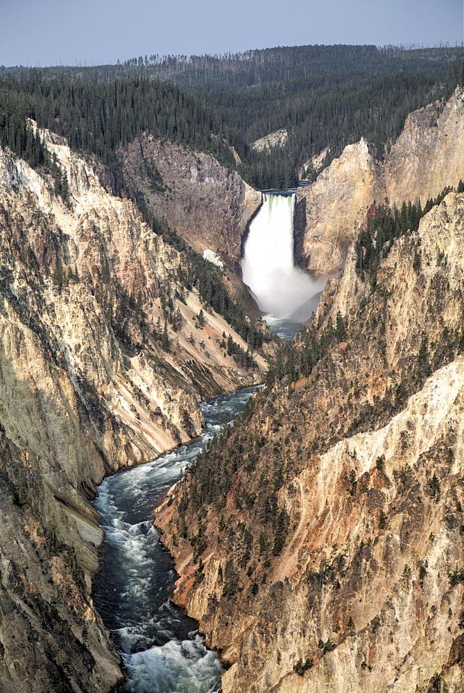 Lower Falls, Yellowstone River, Yellowstone National Park, UNESCO World Heritage Site, Wyoming, United States of America, North America