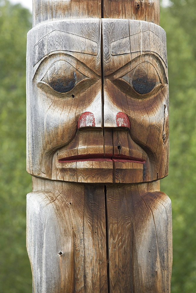 Totem Pole, Gitwangak, British Columbia, Canada, North America