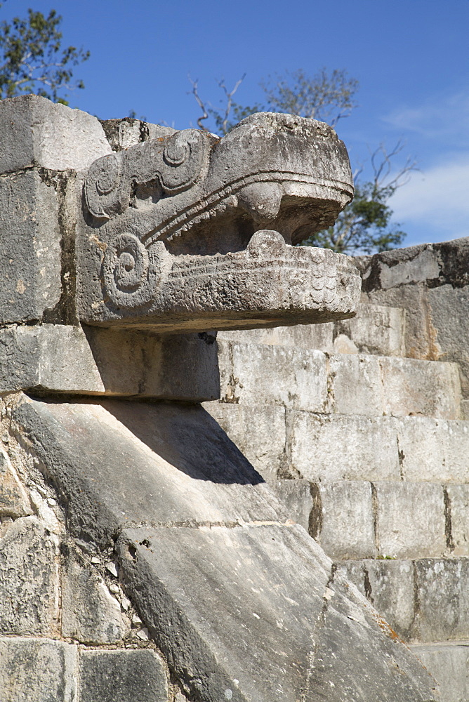 Platform of the Eagles and Jaguars, Chichen Itza, UNESCO World Heritage Site, Yucatan, Mexico, North America